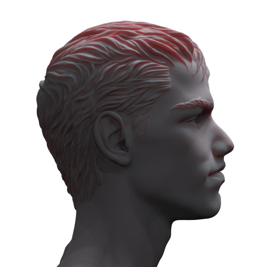 Superhero head royalty-free 3d model - Preview no. 4