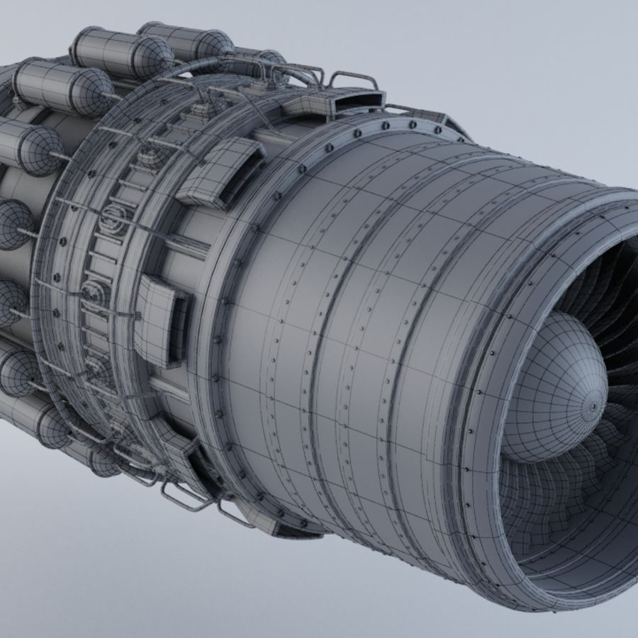 Jet Engine MKVIIC royalty-free 3d model - Preview no. 3