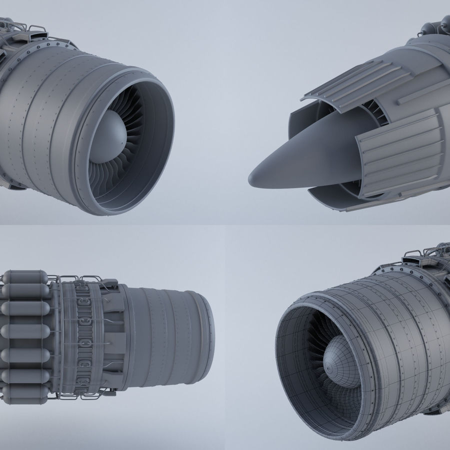 Jet Engine MKVIIC royalty-free 3d model - Preview no. 1