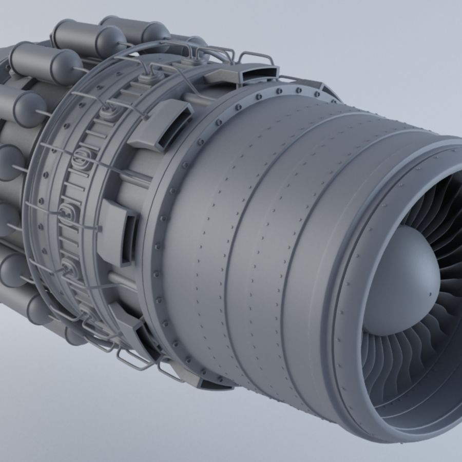 Jet Engine MKVIIC royalty-free 3d model - Preview no. 2