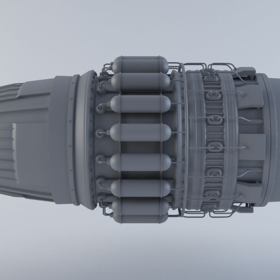 Jet Engine MKVIIC royalty-free 3d model - Preview no. 5