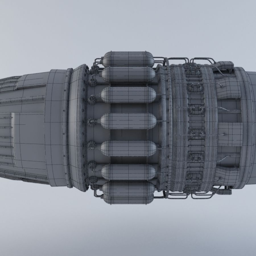 Jet Engine MKVIIC royalty-free 3d model - Preview no. 6