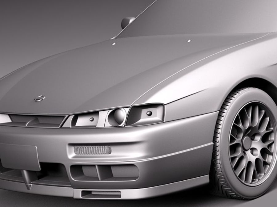 Nissan 240SX Silvia S14 1995-1999 royalty-free 3d model - Preview no. 10