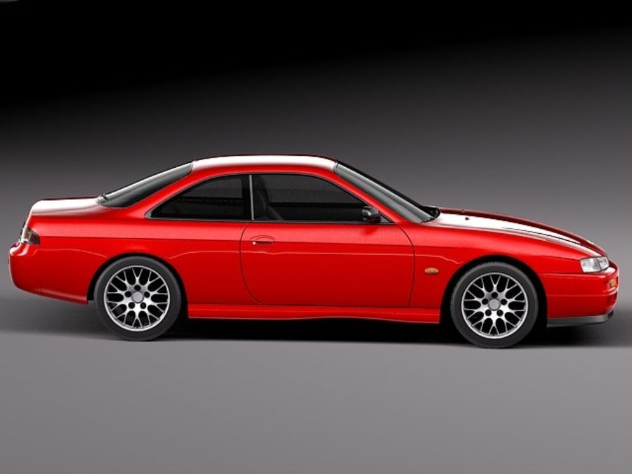 Nissan 240SX Silvia S14 1995-1999 royalty-free 3d model - Preview no. 7