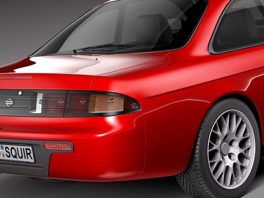 Nissan 240SX Silvia S14 1995-1999 royalty-free 3d model - Preview no. 4