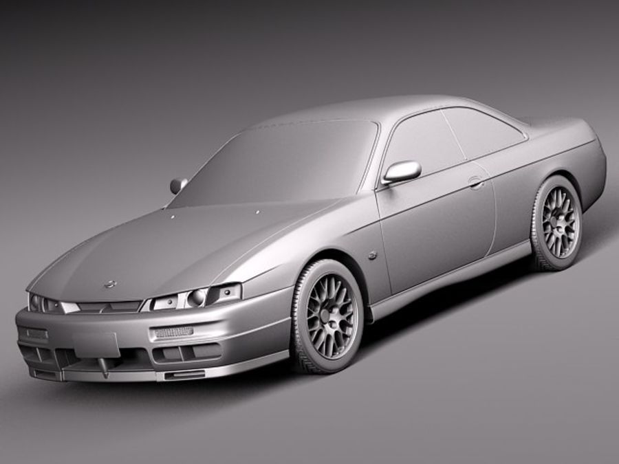 Nissan 240SX Silvia S14 1995-1999 royalty-free 3d model - Preview no. 9