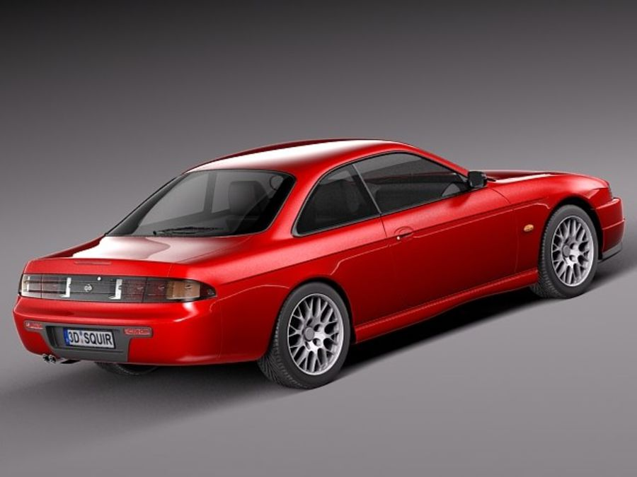 Nissan 240SX Silvia S14 1995-1999 royalty-free 3d model - Preview no. 5