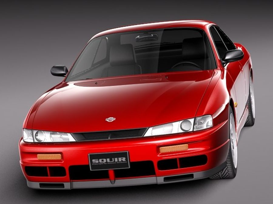 Nissan 240SX Silvia S14 1995-1999 royalty-free 3d model - Preview no. 2