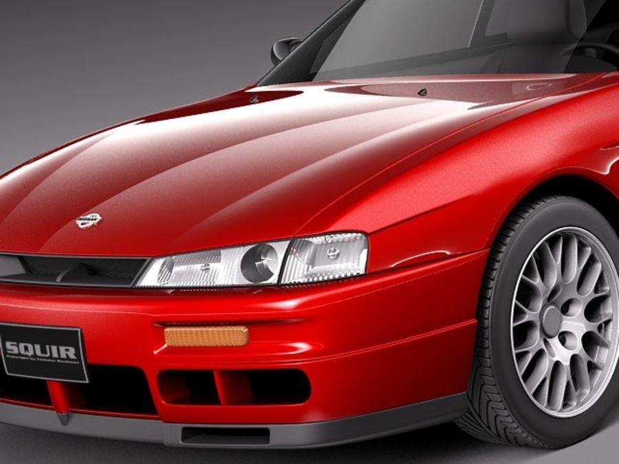 Nissan 240SX Silvia S14 1995-1999 royalty-free 3d model - Preview no. 3