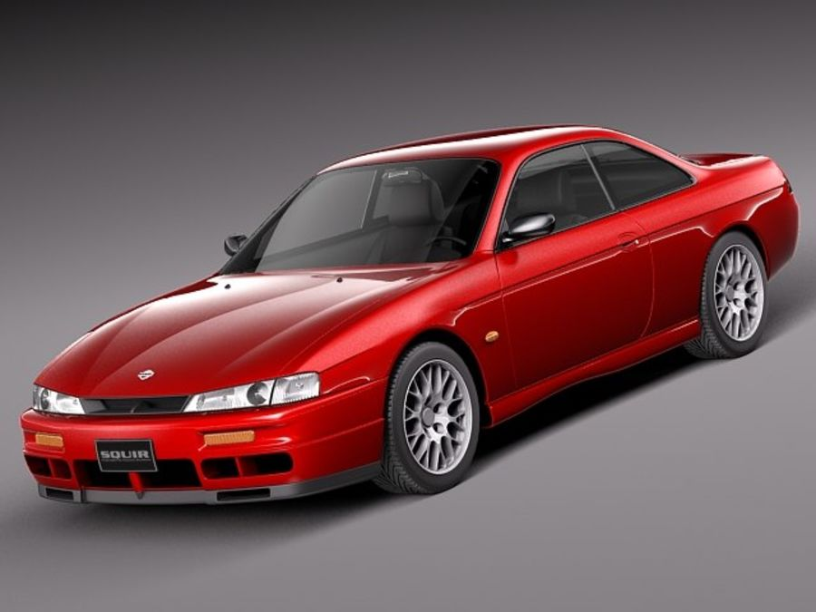 Nissan 240SX Silvia S14 1995-1999 royalty-free 3d model - Preview no. 1