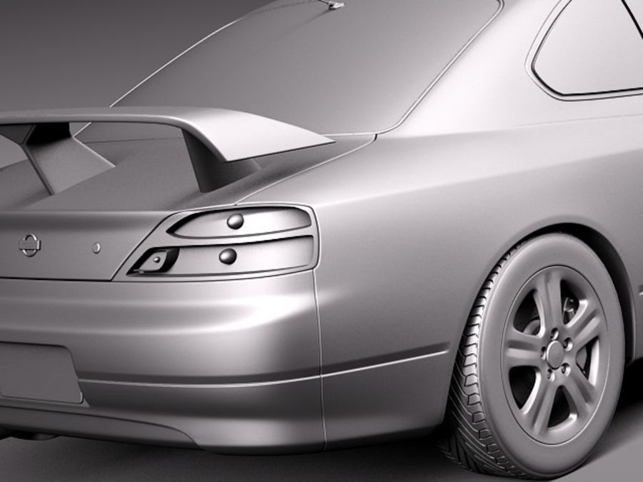 Nissan 240sx Silvia S15 1999-2002 royalty-free 3d model - Preview no. 11