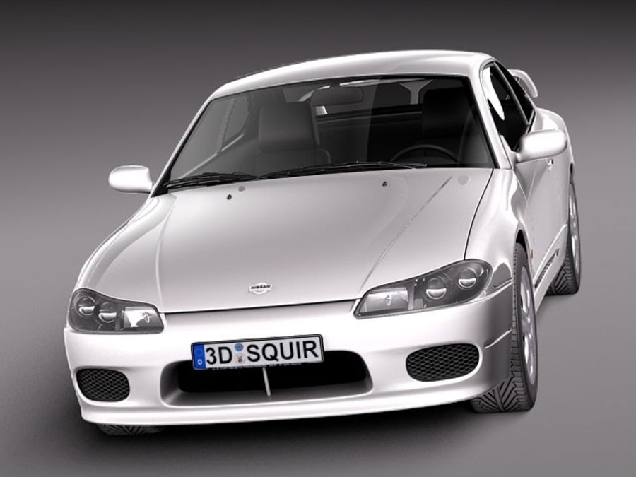 Nissan 240sx Silvia S15 1999-2002 royalty-free 3d model - Preview no. 2
