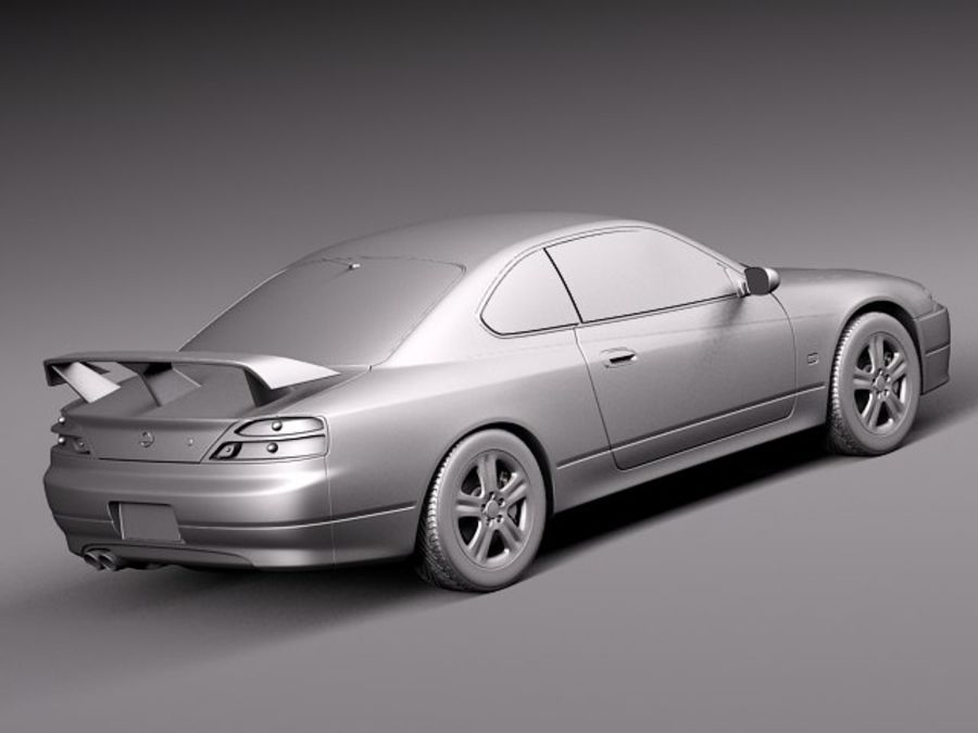 Nissan 240sx Silvia S15 1999-2002 royalty-free 3d model - Preview no. 12