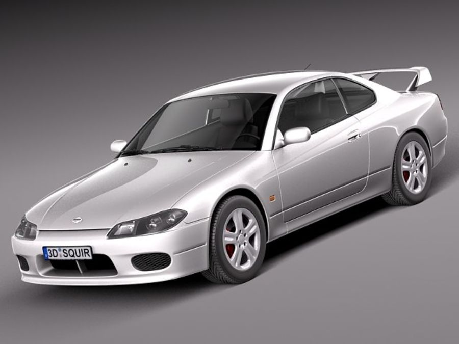 Nissan 240sx Silvia S15 1999-2002 royalty-free 3d model - Preview no. 1