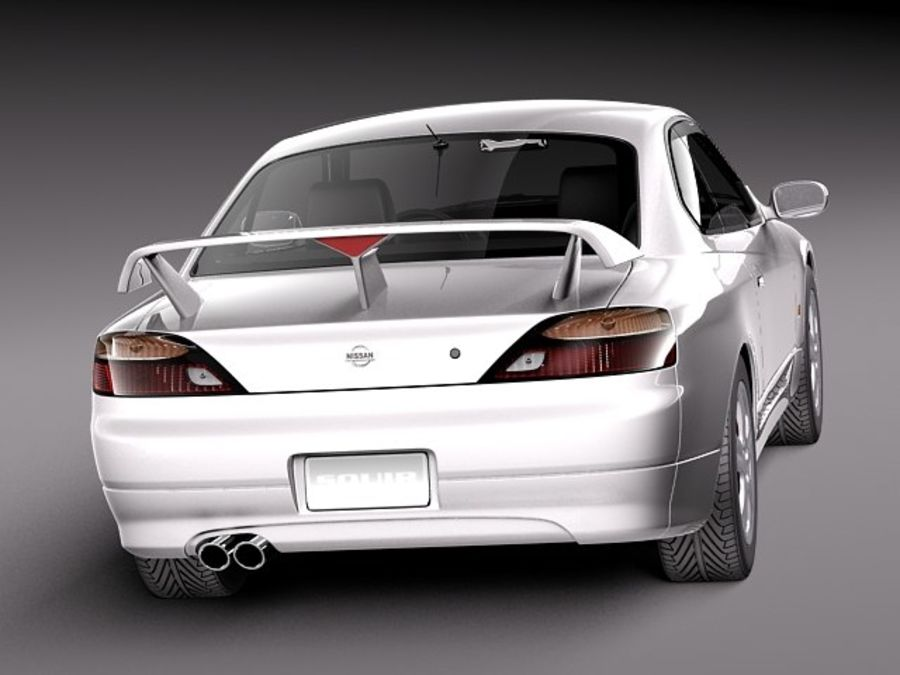Nissan 240sx Silvia S15 1999-2002 royalty-free 3d model - Preview no. 6