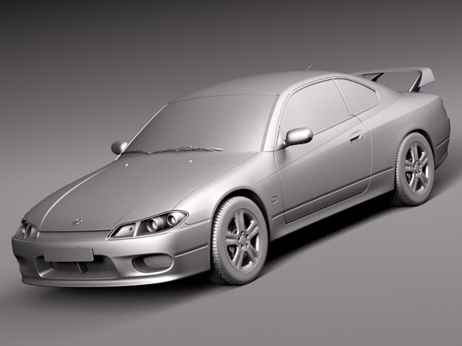 Nissan 240sx Silvia S15 1999-2002 royalty-free 3d model - Preview no. 9