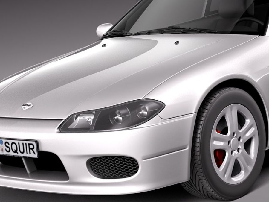 Nissan 240sx Silvia S15 1999-2002 royalty-free 3d model - Preview no. 3