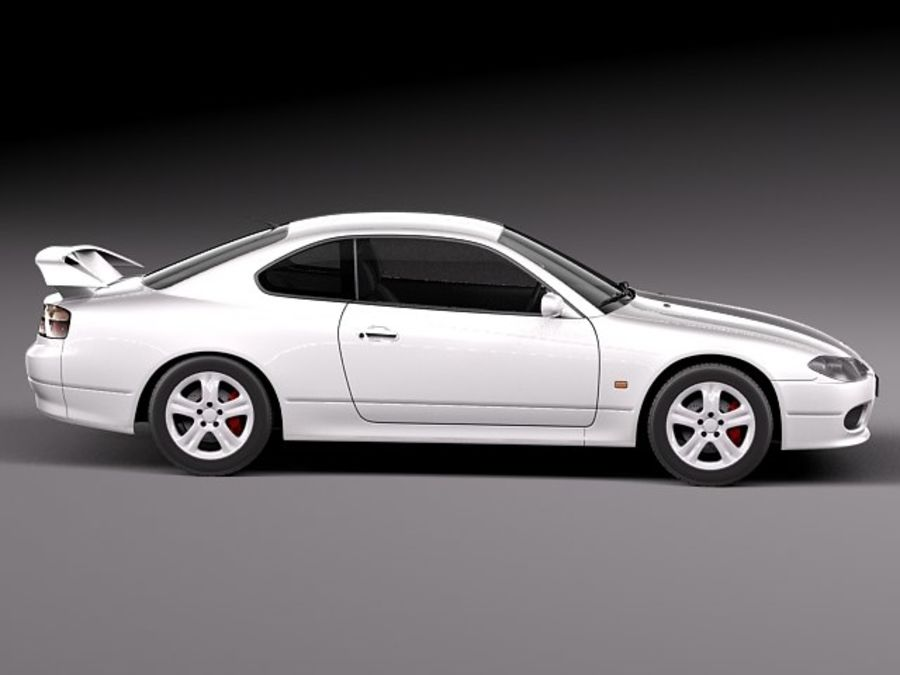 Nissan 240sx Silvia S15 1999-2002 royalty-free 3d model - Preview no. 7