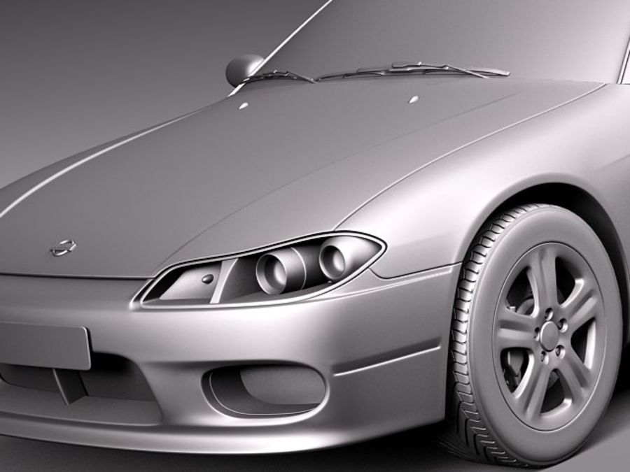 Nissan 240sx Silvia S15 1999-2002 royalty-free 3d model - Preview no. 10