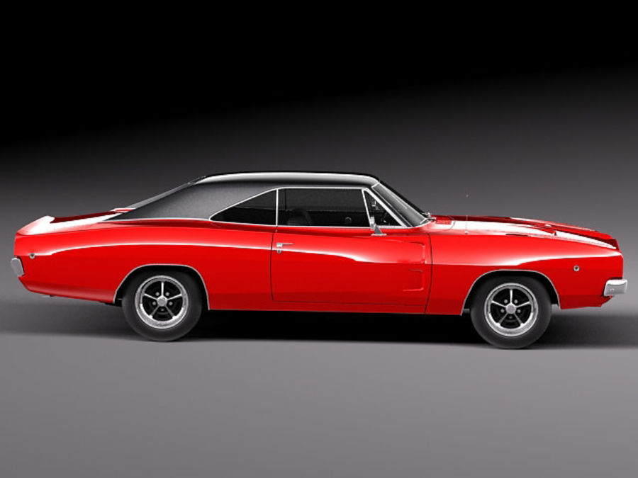 Dodge Charger 1968 royalty-free 3d model - Preview no. 8