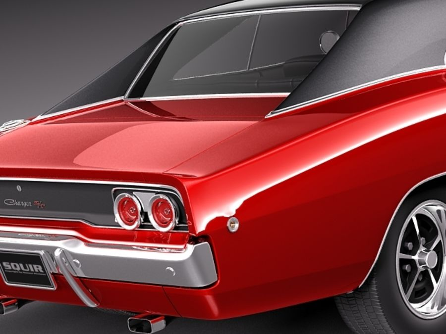 Dodge Charger 1968 royalty-free 3d model - Preview no. 5