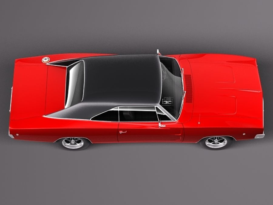 Dodge Charger 1968 royalty-free 3d model - Preview no. 9