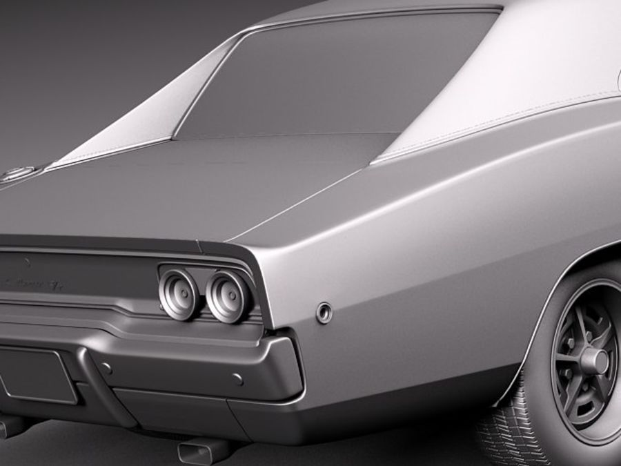 Dodge Charger 1968 royalty-free 3d model - Preview no. 13