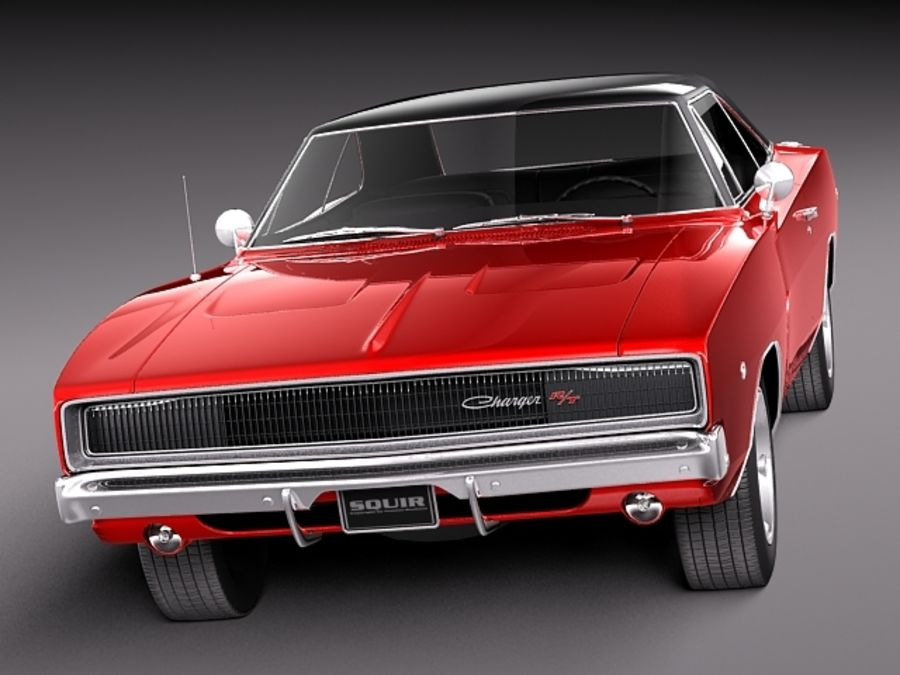 Dodge Charger 1968 royalty-free 3d model - Preview no. 2