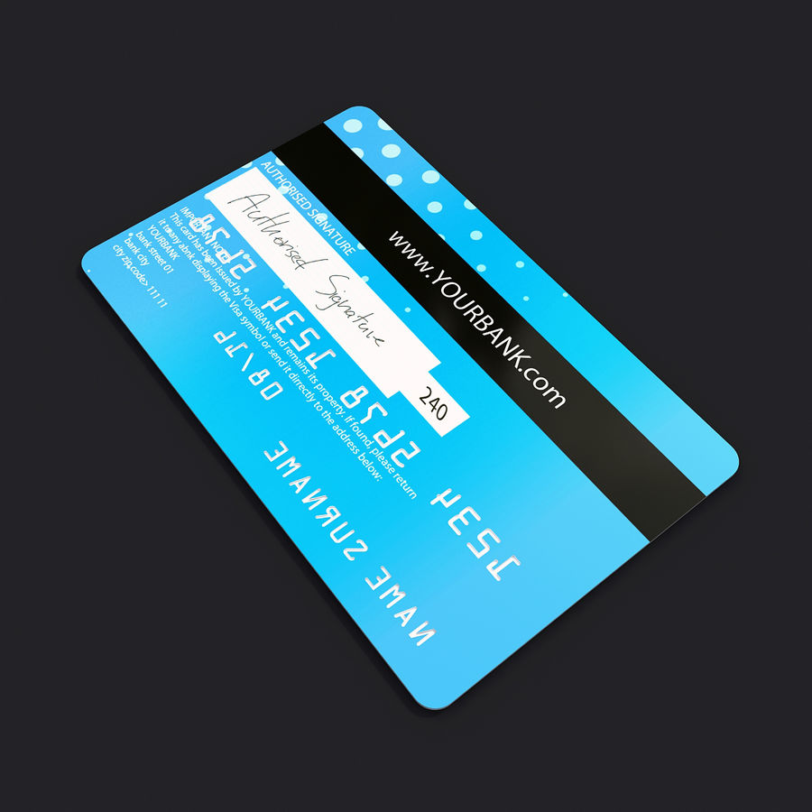 Credit Card royalty-free 3d model - Preview no. 5