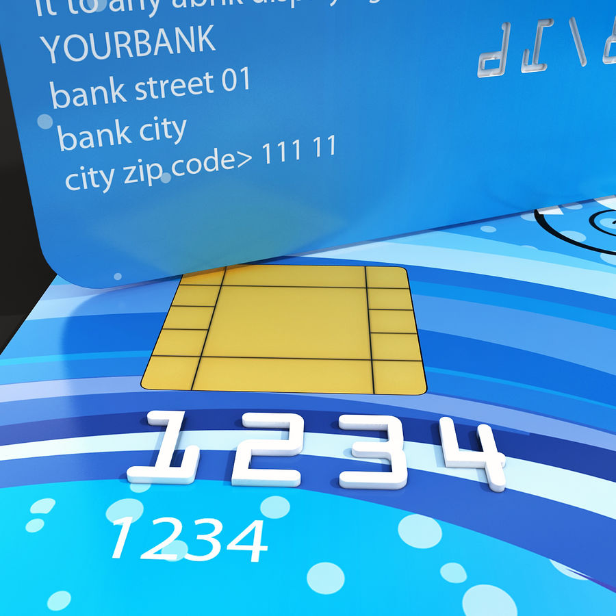 Credit Card royalty-free 3d model - Preview no. 8