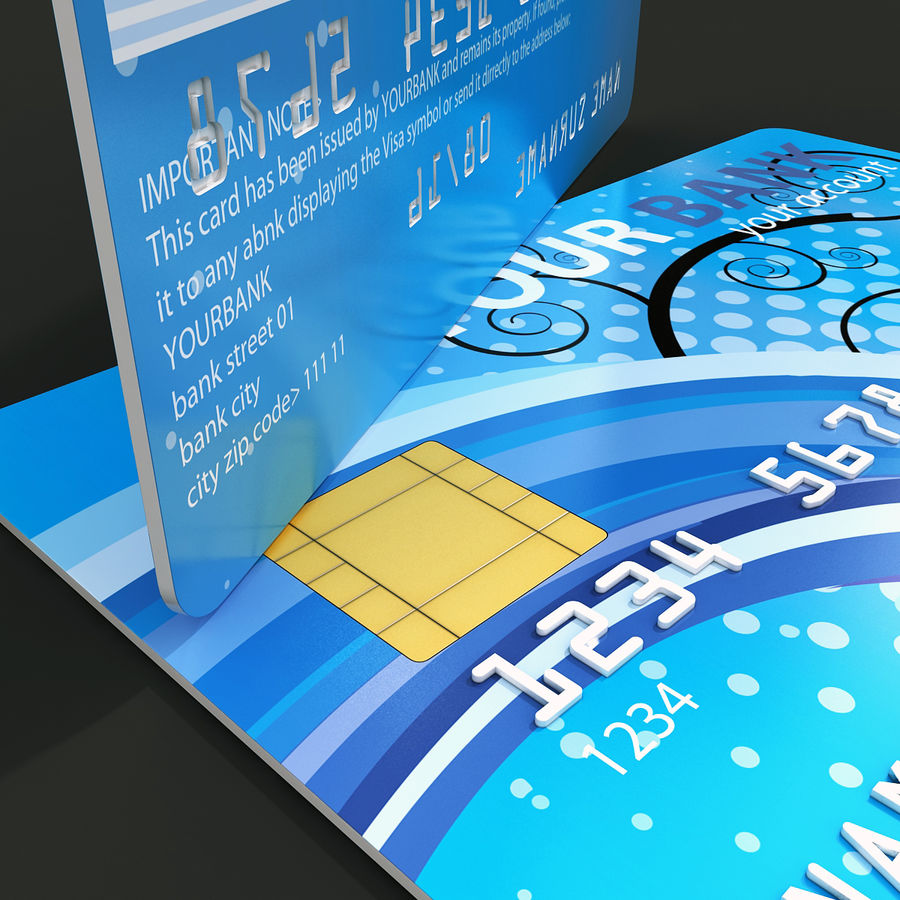 Credit Card royalty-free 3d model - Preview no. 7