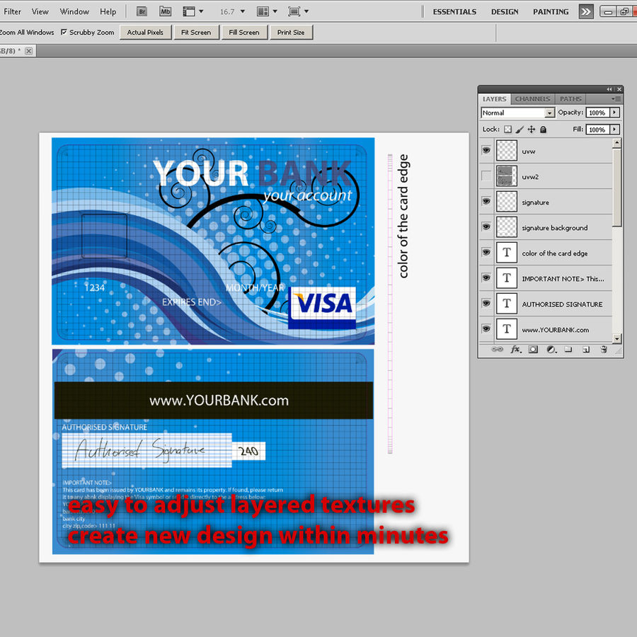 Credit Card royalty-free 3d model - Preview no. 10