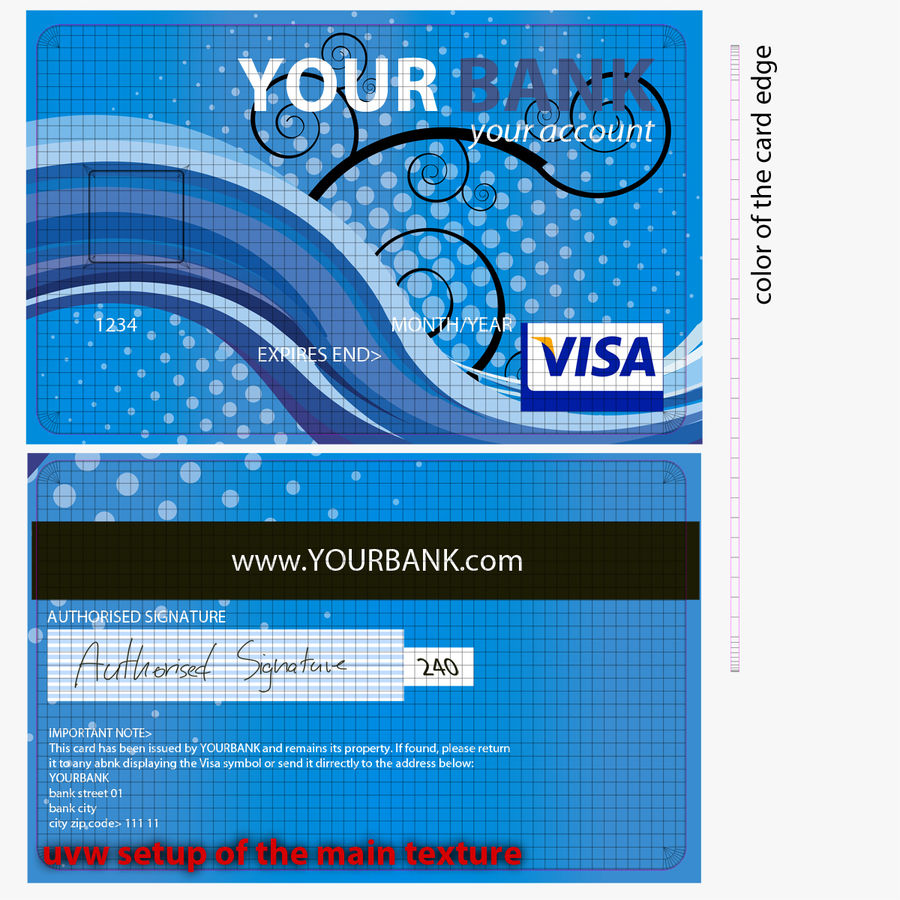 Credit Card royalty-free 3d model - Preview no. 11