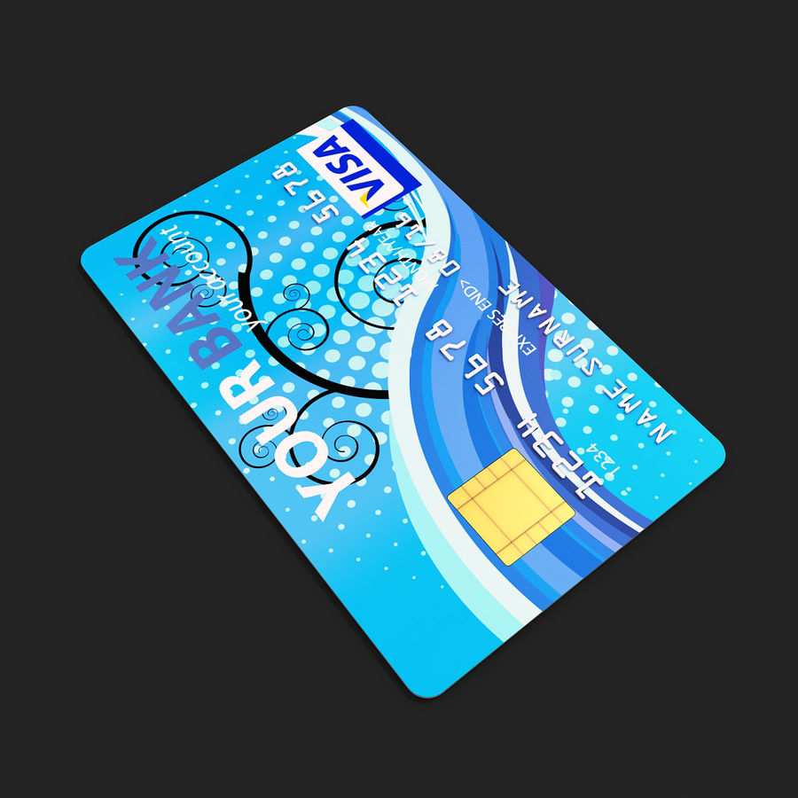 Credit Card royalty-free 3d model - Preview no. 4