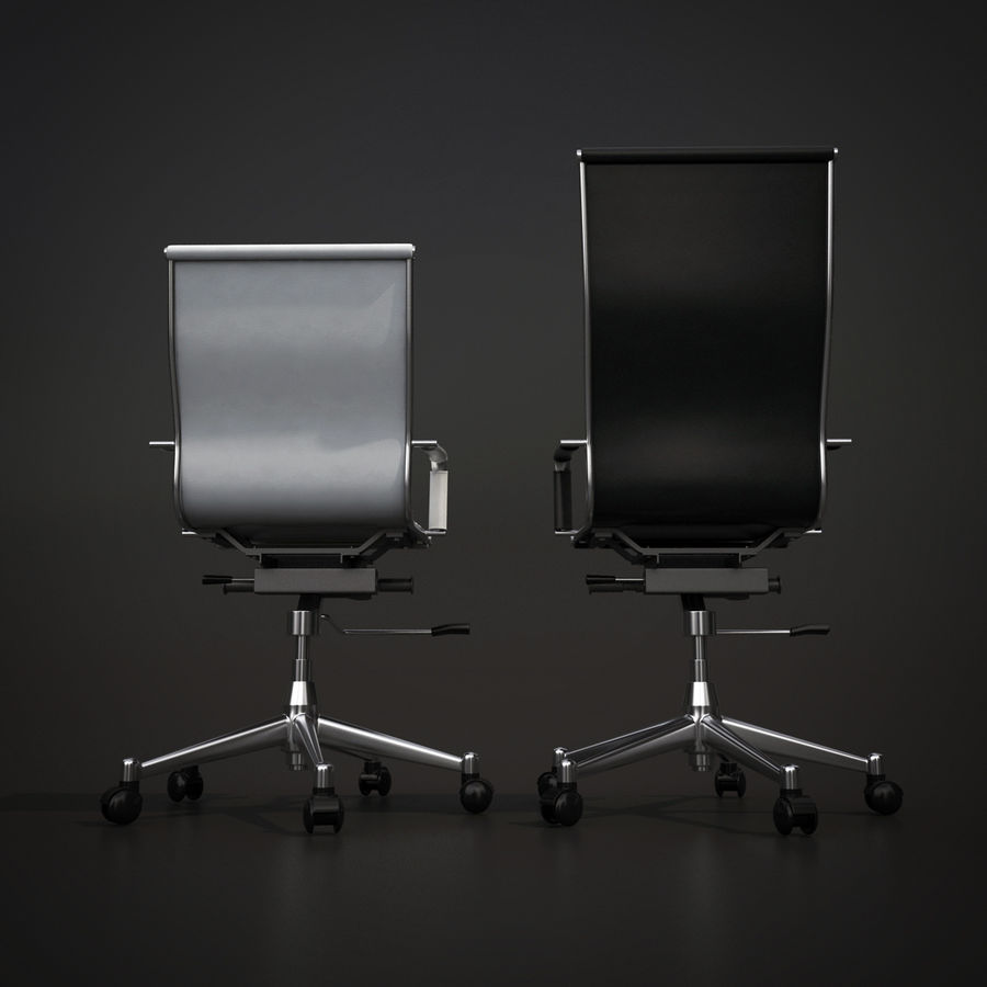Modern Office Chair royalty-free 3d model - Preview no. 7