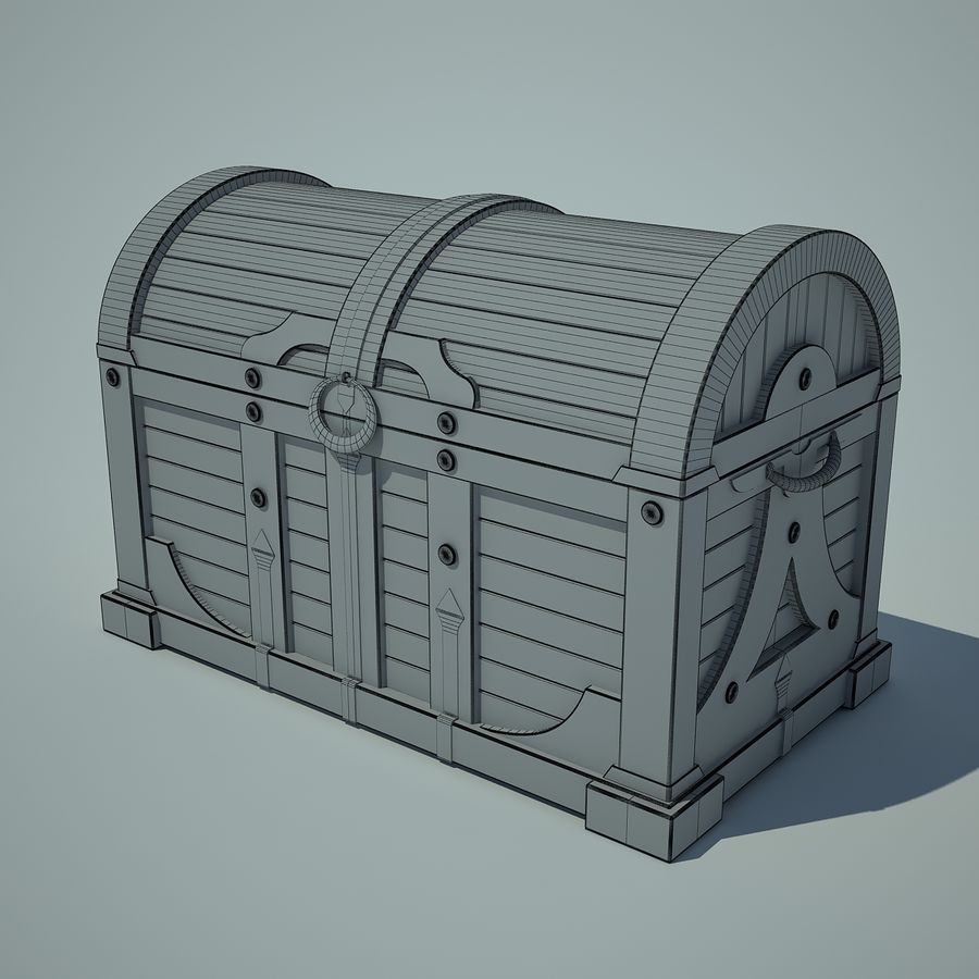 грудь royalty-free 3d model - Preview no. 2