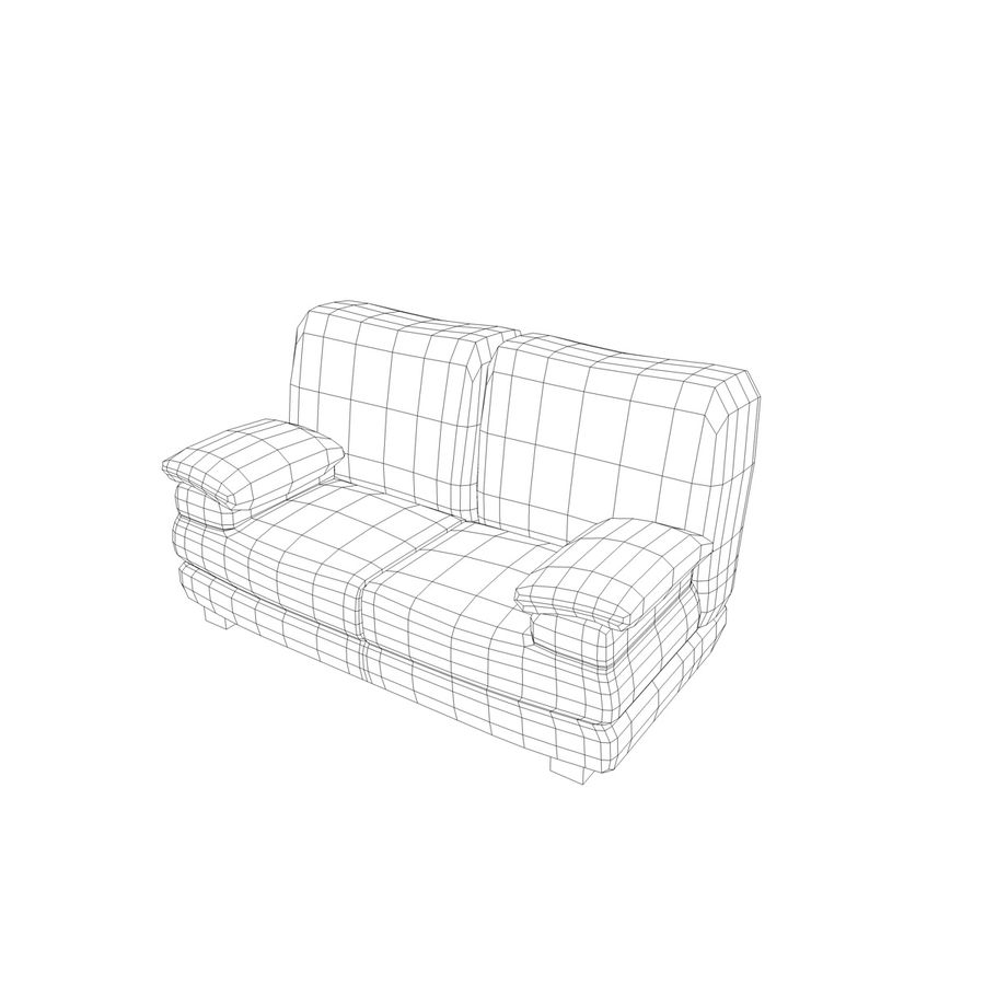 Couch Chairs royalty-free 3d model - Preview no. 8