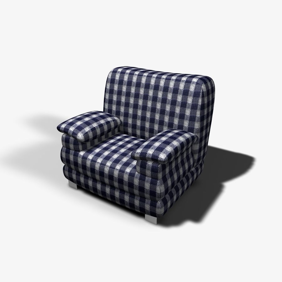 Couch Chairs royalty-free 3d model - Preview no. 4