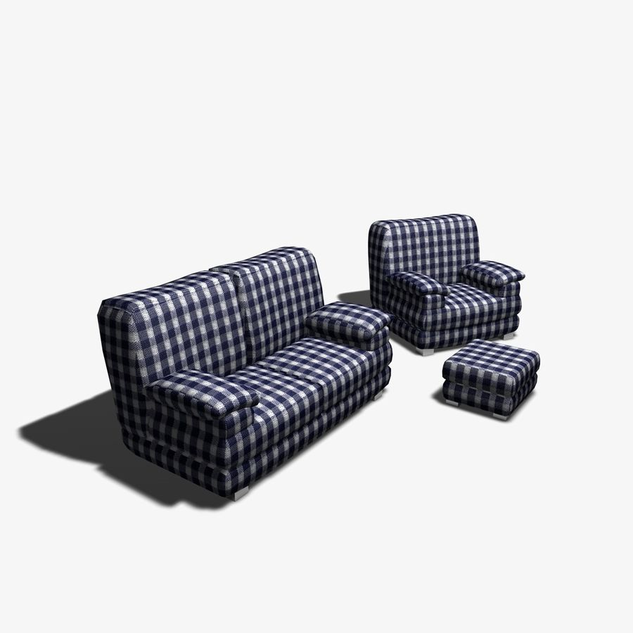 Couch Chairs royalty-free 3d model - Preview no. 2