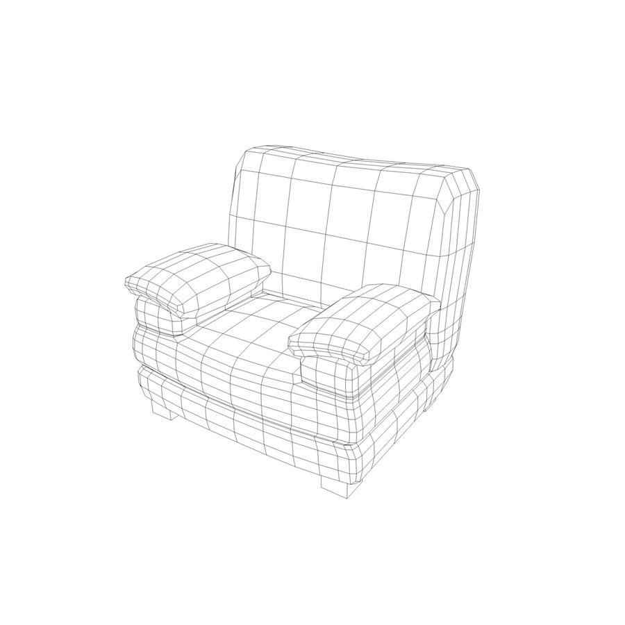 Couch Chairs royalty-free 3d model - Preview no. 5