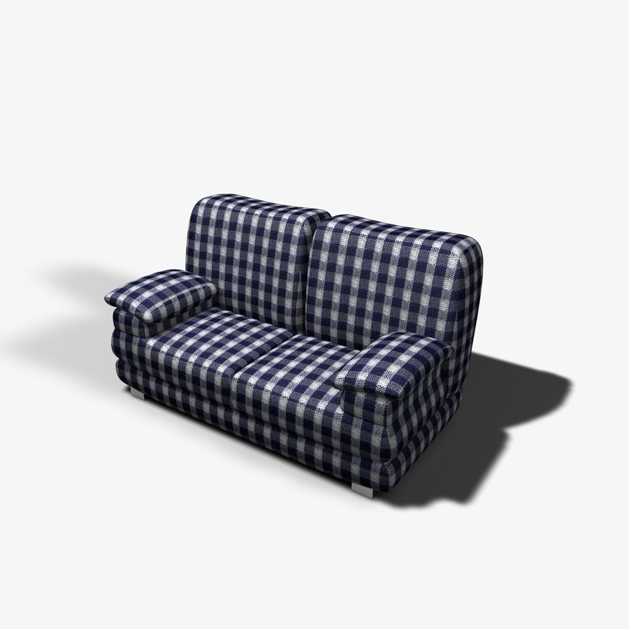 Couch Chairs royalty-free 3d model - Preview no. 7