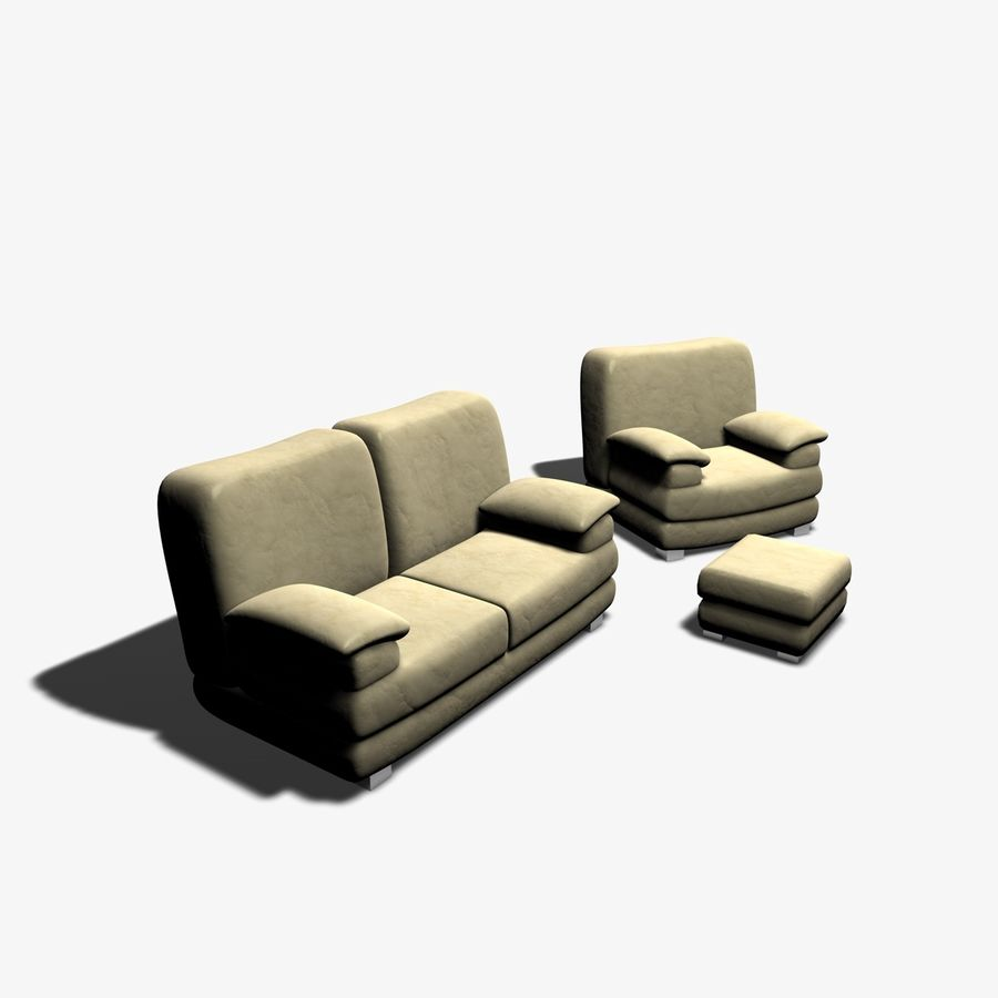 Couch Chairs royalty-free 3d model - Preview no. 1
