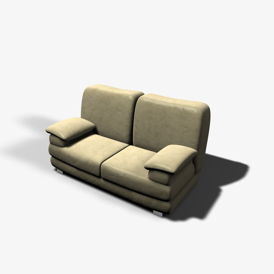 Couch Chairs royalty-free 3d model - Preview no. 6