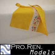 Полотенце - Желтое 3d model
