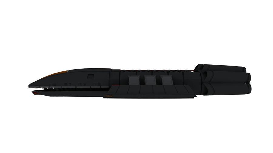 Battlestar Titan royalty-free 3d model - Preview no. 5