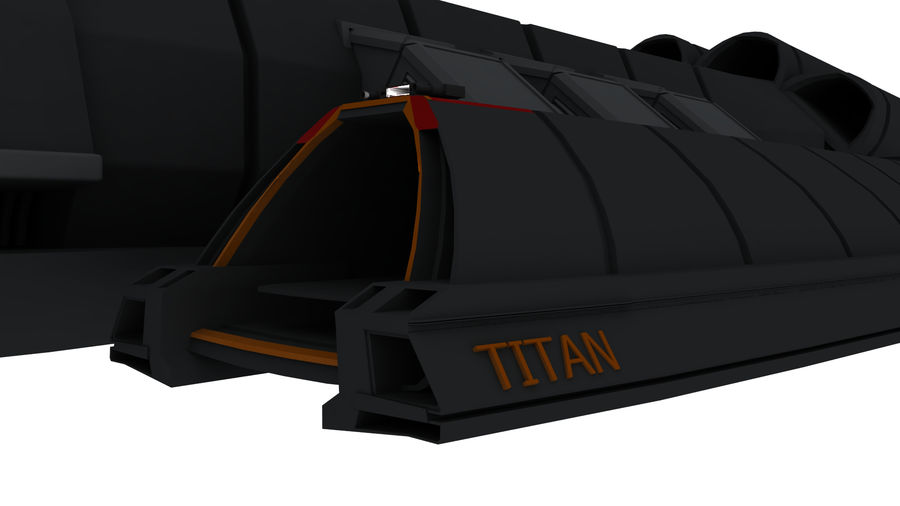 Battlestar Titan royalty-free 3d model - Preview no. 9
