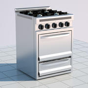 Stove Oven Stainless Steel 3d model