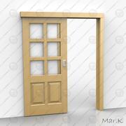 раздвижная дверь 3d model