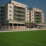 アパートAのブロック 3d model