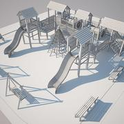 Children Playground Dan 3d model